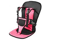 Бескаркасное автокресло / Детское авто-кресло бескаркасное от 1-х до 9 лет черно-розовий