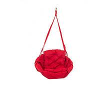 Подвесная детская качеля-гамак: 250 кг 120 см двухместная. Цвет: красная роза. Модель: №15