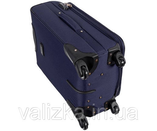 Текстильный чемодан большой клади Golden Horse на колесиках синий, фото 2