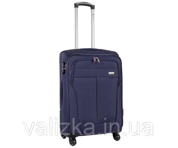 Текстильный чемодан большой клади Golden Horse на колесиках синий