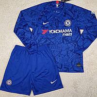 Футбольная форма с длинным рукавом Челси/Chelsea ( Англия, Премьер Лига ), домашняя, сезон 2019-2020