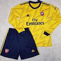 Футбольная форма с длинным рукавом Арсенал/Arsenal ( Англия, Премьер Лига ), выездная, сезон 2019-2020