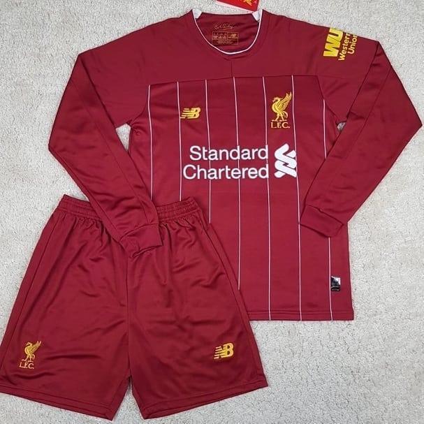 Футбольная форма с длинным рукавом Ливерпуль/Liverpool ( Англия, Премьер Лига ), домашняя, сезон 2019-2020
