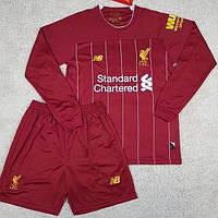 Футбольная форма с длинным рукавом Ливерпуль/Liverpool ( Англия, Премьер Лига ), домашняя, сезон 2019-2020, фото 1