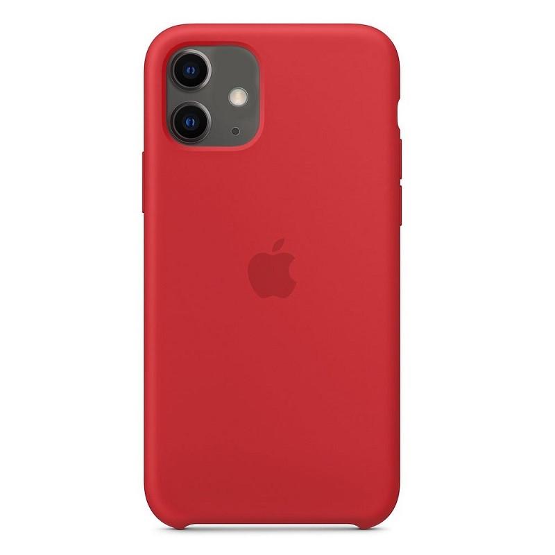 Силиконовый чехол iPhone 11 (2019) красный
