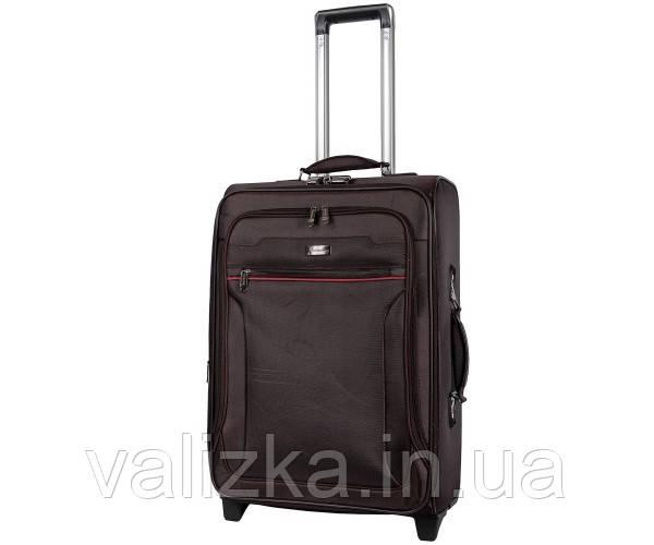 Текстильный чемодан средний Golden Horse на колесах черный