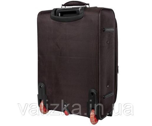 Текстильный чемодан средний Golden Horse на колесах черный, фото 2