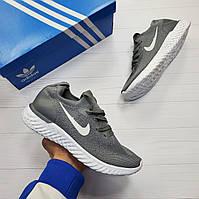 Кроссовки мужские Fila сетка adidas лето Nike кеды ботинки Серый