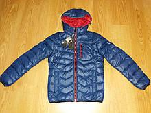 Мужская зимняя теплая куртка-пуховик Aikesasi синий р.46