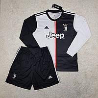 Футбольная форма с длинным рукавом Ювентус/Juventus ( Италия, Серия А ), домашняя, сезон 2019-2020, фото 1