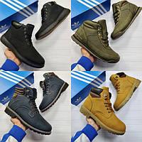 Зимние ботинки мужские из нубука
