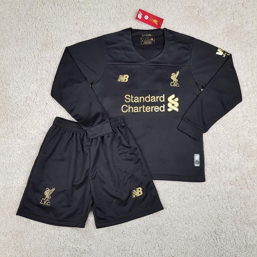 Детская футбольная форма с длинным рукавом Ливерпуль/Liverpool ( Англия, Премьер Лига ),вратарская,сезон 19-20