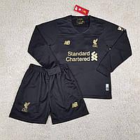 Детская футбольная форма с длинным рукавом Ливерпуль/Liverpool ( Англия, Премьер Лига ),вратарская,сезон 19-20, фото 1