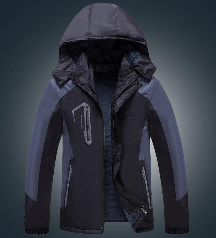 Мужская демисезонная влагозащитная куртка с капюшоном