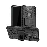 Чохол для Armored Asus Zenfone 6 (ZS630KL) протиударний бампер з підставкою чорний, фото 1