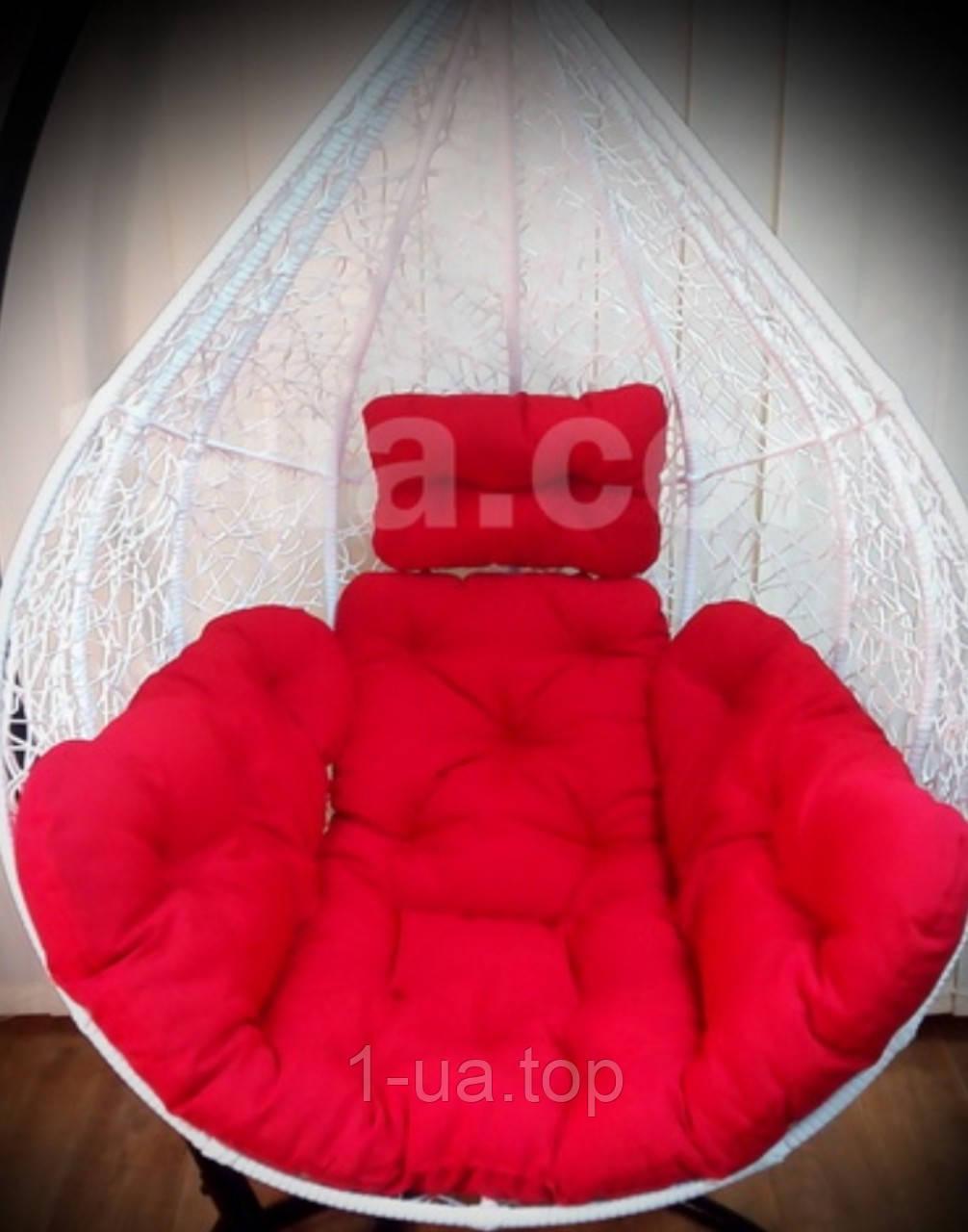 Красная подушка для подвесного кресла кокон, подушка для подвесной качели.