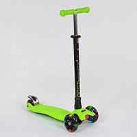 Самокат детский трехколесный Best Scooter, 4 свет. колеса PU, 24273