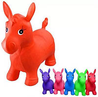 Прыгун-лошадка резиновая  Bambi MS 0001  ( Оранжевый, Розовый )