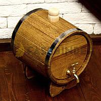 Дубовый жбан для напитков Fassbinder™, 5 литров Бочка дубовая для алкогольных и безалкогольных напитков
