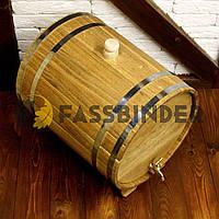 Дубовый жбан для напитков Fassbinder™, 50 литров Бочка дубовая для алкогольных и безалкогольных напитков