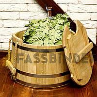 Запарник для віників дубовий 20л Fassbinder™ die authentische Gestaltung запарники для лазні та сауни