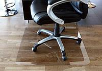 Защитный напольный коврик под кресло Tip-Top™ 1,0мм 1000*1250мм Прозрачный (закругленные края) не царапает пол