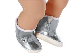 Чобітки сріблясті для ляльки Baby Born Zapf Creation