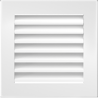 Вентиляционная решетка Kratki FRESH 17х17 белая, фото 1