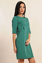Однотонное лаконичное платье (Горчица ri), фото 2