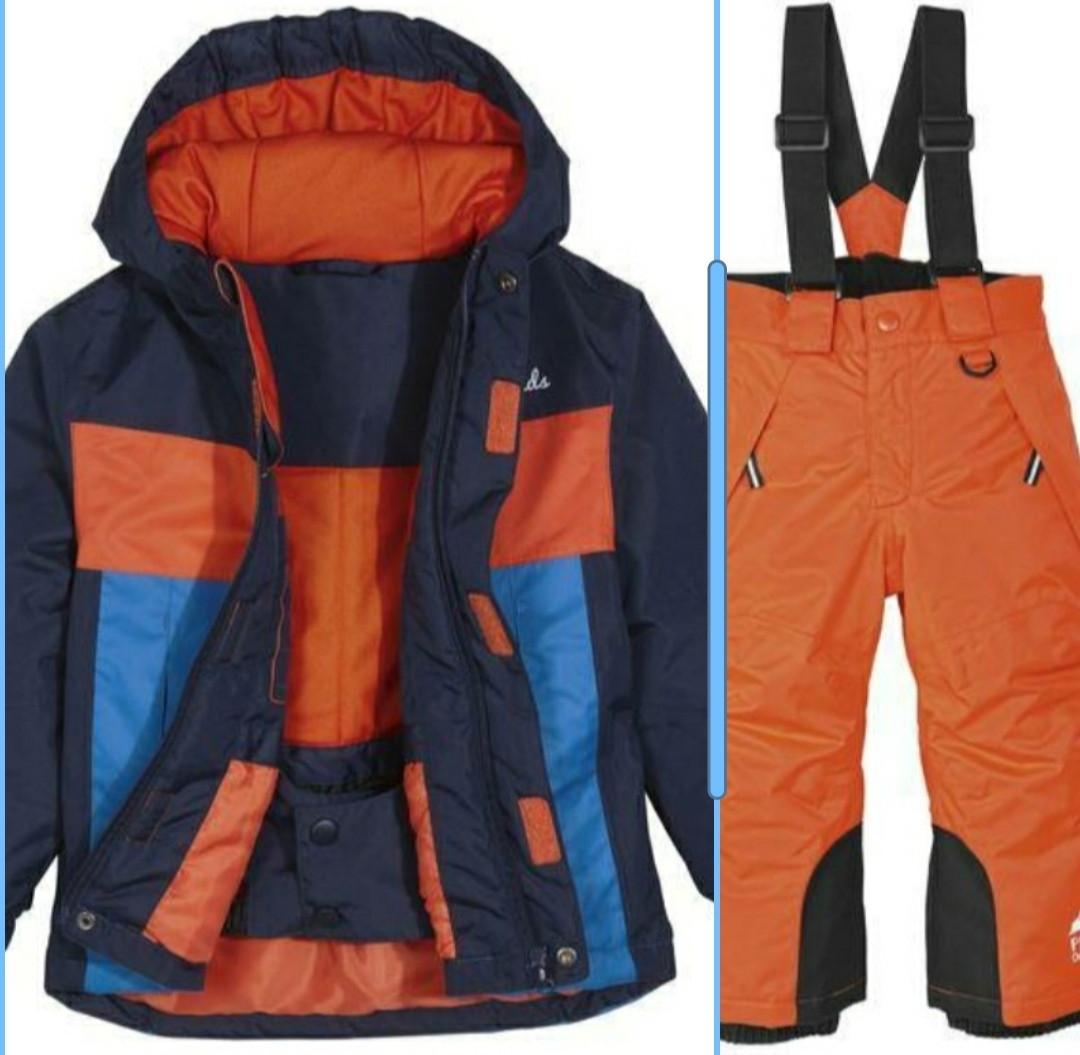 Лыжный костюм куртка и оранжевые штаны Lupilu (Германия) р.98/104см