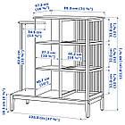 Открытый шкаф с раздвижными дверями IKEA NORDKISA бамбук 120x123 см 304.394.76, фото 2