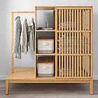 Открытый шкаф с раздвижными дверями IKEA NORDKISA бамбук 120x123 см 304.394.76, фото 5