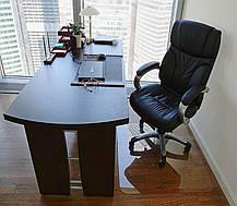 Защитный коврик под кресло 100см х 125см (0.6мм), коврик напольный прозрачный из поликарбоната, фото 3