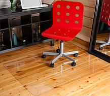 Защитный коврик под кресло 100см х 125см (0.6мм), коврик напольный прозрачный из поликарбоната, фото 2