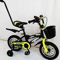 Детский двухколесный велосипед с ручкой  (от 2-х до 5-х лет) на 12 дюймов HAMMER