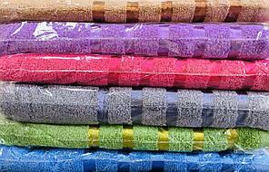 Полотенце махровое сауна размер 110*160 полосы микс