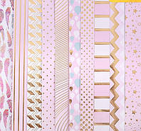 Набор бумаги для скрапбукинга с фольгированием «Розовые облака», 10 листов, 30,5 х 30,5 см, 180 г/м