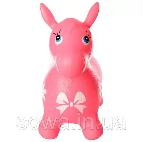 Прыгун-лошадка резиновая Bambi Metr+ MS 0372 ( Розовый )