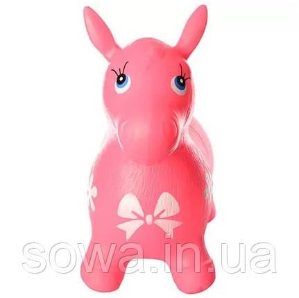 Прыгун-лошадка резиновая Bambi Metr+ MS 0372 ( Розовый ), фото 2