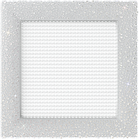 Вентиляционная решетка Kratki VENUS 17х17 белая кристалы Сваровски, фото 1