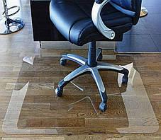 Защитный коврик под кресло 100см х 125см (0.8мм), коврик напольный прозрачный из поликарбоната, фото 3