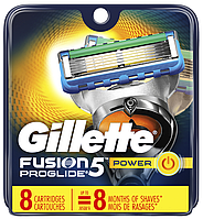 Сменные кассеты Gillette Fusion Proglide Power, на 5 лезвий (8шт.)