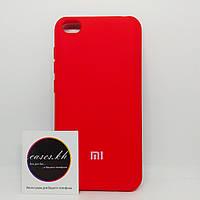 Силиконовый чехол - Full Silicone Cover на Xiaomi Redmi Go Красный (Red)