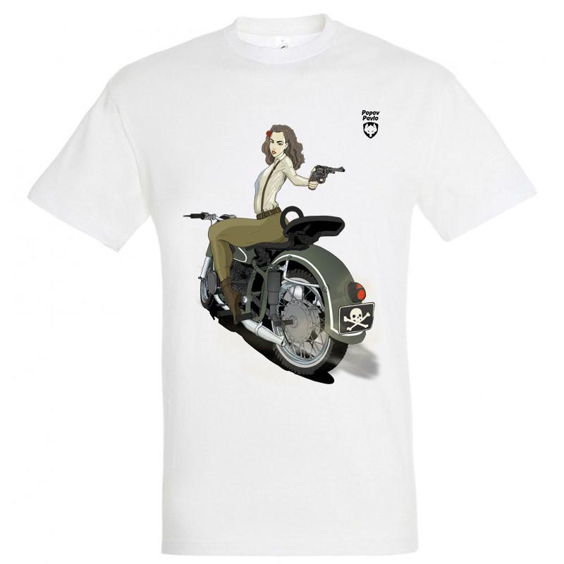"""Байкерская футболка """"Валькірія"""""""