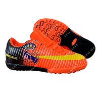 Футбольные бампы (сороконожки) Nike Mercurial CR7 Real C79-2 Orange, р. 31-36