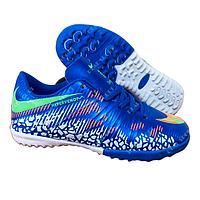 Футбольные бампы (сороконожки) Nike Hypervenom C915-4 Blue, р. 36-41