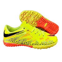 Футбольные бампы (сороконожки) Nike Hypervenom C915-2 Yellow, р. 36-45