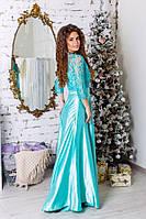 Платье вечернее длинное атлас, фото 2