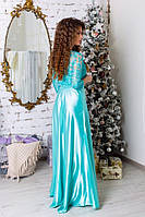 Платье вечернее длинное атлас, фото 3