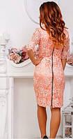 Платье вечернее с молнией по спине Пудра, фото 2